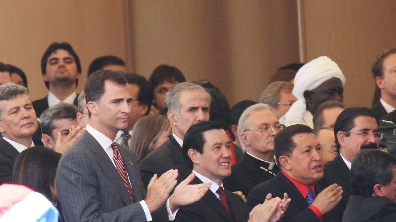 巴國總統就職典禮  馬與他國元首寒暄