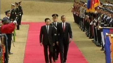 韩总统李明博访美  人权再成焦点