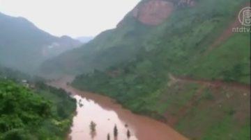 云南强震 堰塞湖水位骤升 灾民急撤离
