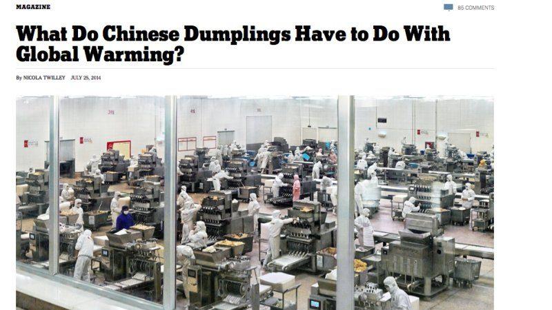 紐時:中國速凍餃子加劇全球變暖?