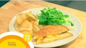 【美食天堂】熨斗烤奶酪三明治怎样做?超有创意的简单食谱!