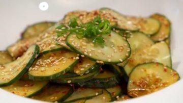 【美食天堂】韩式凉拌辣黄瓜 | 美味家常开胃小菜食谱