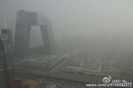 雾霾将再袭 北京发空气重污染红色预警