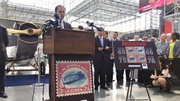 珍貴錯版郵票失竊60年 一枚意外現身