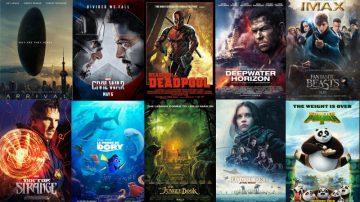 2016年最令人印象深刻的好莱塢電影TOP10