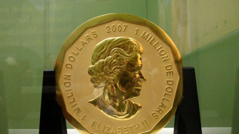 重百公斤 纯度破吉尼斯! 世界首枚百万金币遭窃