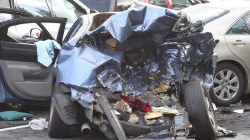 马州德国城7辆车相撞 警方调查原因