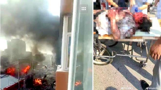 吉林天然气爆炸94死伤 伤者衣不蔽体满脸血(视频)