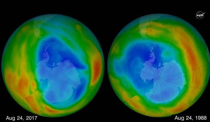 南极臭氧层破洞缩近30年最小 科学家:这是好事