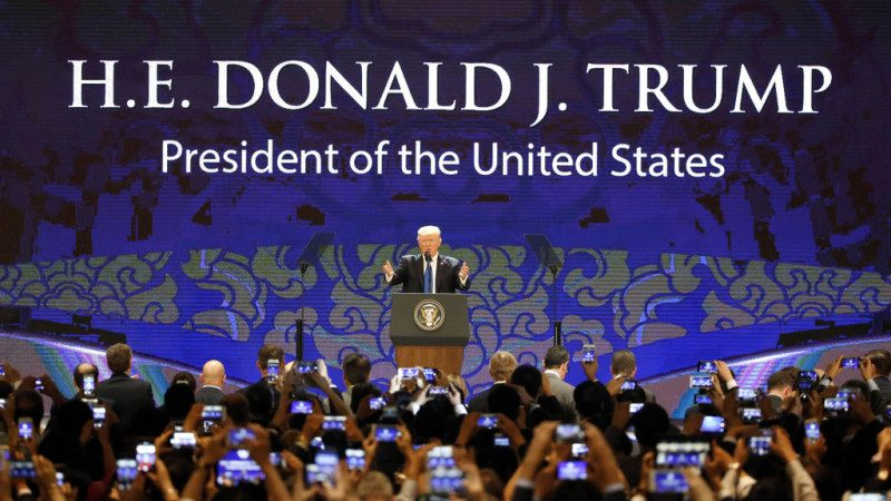 川普APEC演講:美國不再容忍不公平貿易