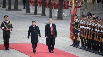 北京歡迎川普儀式 儀仗隊長大肚照意外走紅
