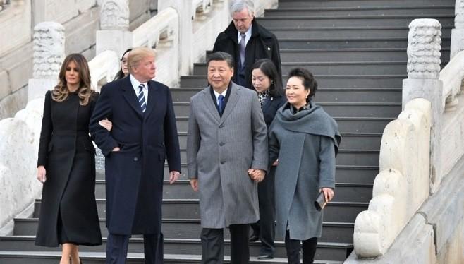 """川习故宫对话:习称""""龙的传人"""" 川普:太棒了!(视频)"""