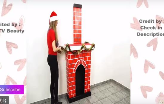 她用废纸箱做成的圣诞烟囱太可爱了 还有24种轻松易做的房间装饰(视频)