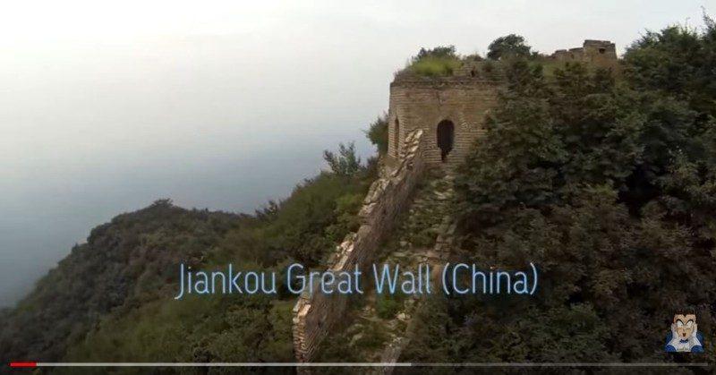 无人机拍摄万里长城没有人去过的部分(视频)