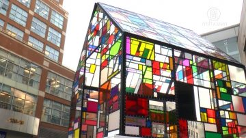 光之幻彩玻璃屋 化身紐約法拉盛聖誕燈飾