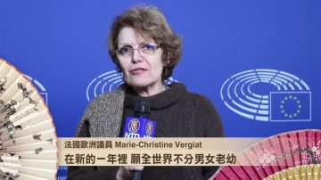 法国欧洲议员Vergiat女士祝观众拥有自由2018