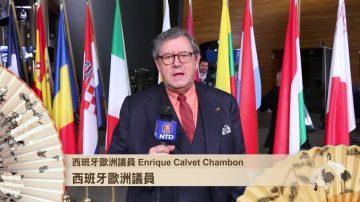 西班牙欧洲议员Calvet Chambon祝观众 节日快乐