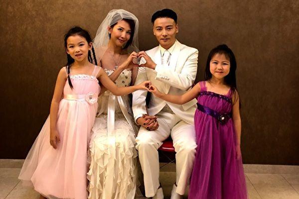 蔡少芬與張晉紀念錫婚 著10年前婚紗拍全家福