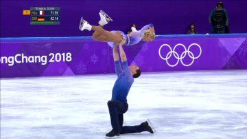 平昌冬奥会 双人花样滑冰破世界纪录