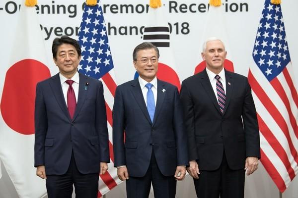 彭斯:美日韓立場一致 不會改變對朝政策
