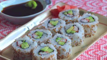 【美食天堂】美国必吃加州寿司卷的家庭做法
