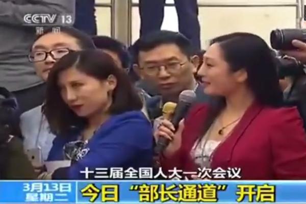女記者兩會「飈戲」被罰  傳為河北貪官之女