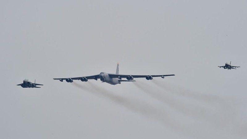 "B-52轰炸机暂不参演 美韩""超级雷霆""军演继续"