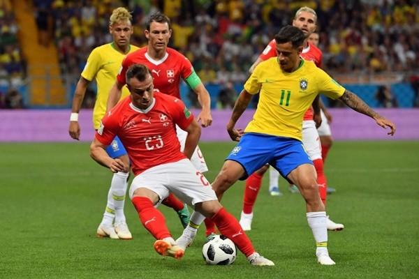 巴西世足首戰 與瑞士1比1踢成平手
