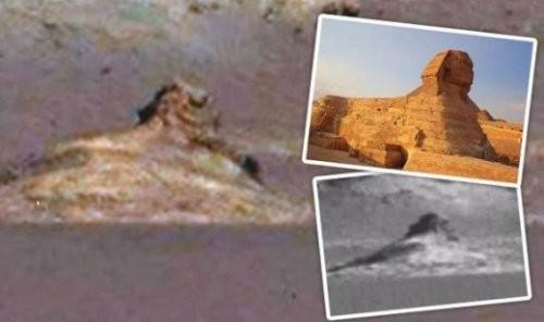 """火星发现酷似""""人面狮身像""""这是外星文明证据吗?(视频)"""