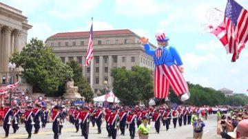 華府獨立日大遊行 為美國自由強大而驕傲