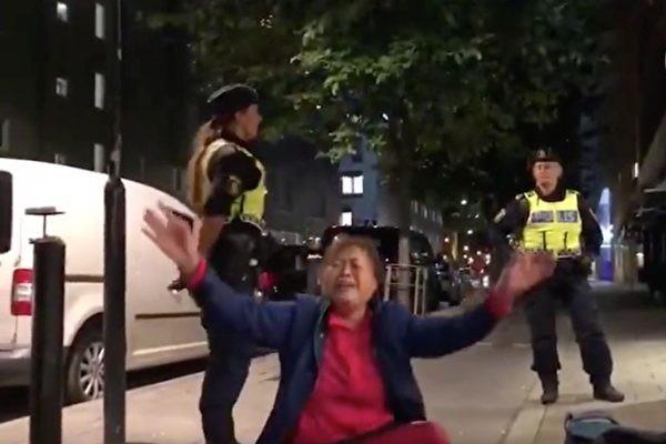 """外媒:中国游客大闹瑞典案情逆转  巨婴""""碰瓷""""令中共丢丑"""