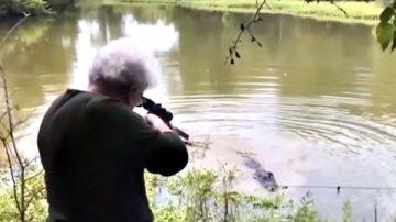 為寵物馬報仇 美73歲老婦打死3.7米長鱷魚
