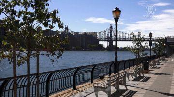 湖光水色 波光瀲灩 紐約東河新河濱公園開放