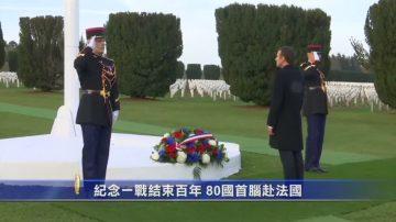 紀念一戰結束百年 80國首腦赴法國