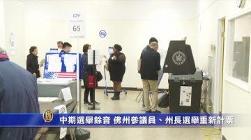 中期选举余音 佛州参议员、州长选举重新计票