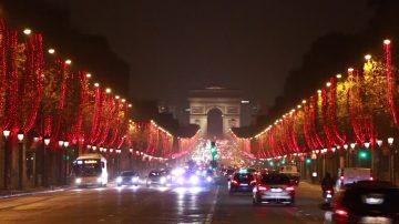 香榭大道再迎圣诞灯 巴黎添新妆