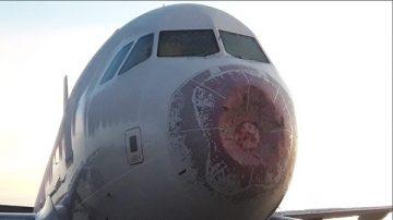 空中驚魂!冰雹狂風強襲 南美航空客機慘不忍睹