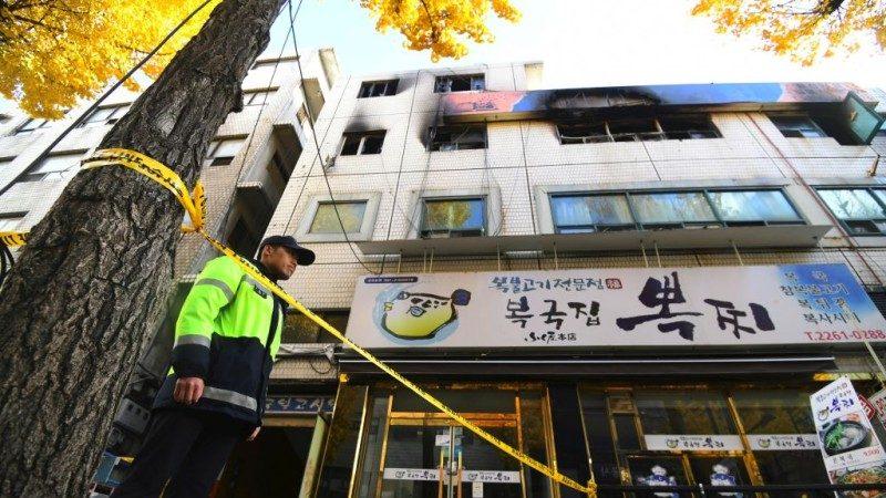 首爾出租公寓驚傳火警 釀7死11傷