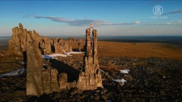 三國攀岩高手 挑戰西伯利亞巨石陣
