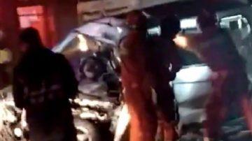 西安面包车与水泥罐车相撞 致12死伤(视频)