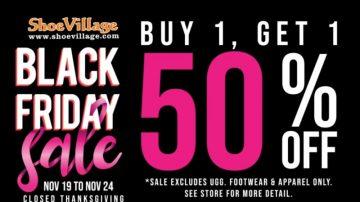 【广告】Shoe Village 19/11-24/11买第二双半价