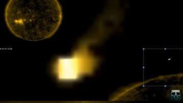 它又回來了!神秘立方體UFO又現太陽周邊(視頻)