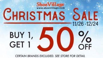 【广告】Shoe Village 26/11-24/12 买第二双半价