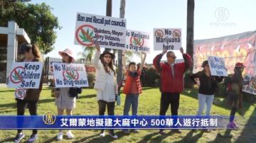 艾尔蒙地拟建大麻中心 500华人游行抵制