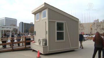遊民小木屋模型揭幕 聖荷西居民質疑選址