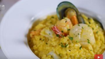 南瓜海鲜烩饭 家庭简单做法(视频)
