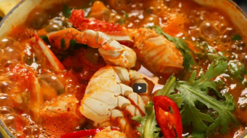 韩式螃蟹汤 漂亮鲜美(视频)