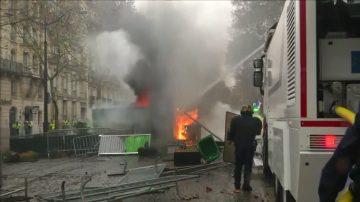 巴黎爆十年來最激烈衝突 200多人被捕
