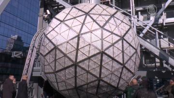 紐約時代廣場水晶球就位 準備迎接2019