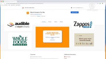 抵制Amazon 谷歌瀏覽器插件阻相關網站服務